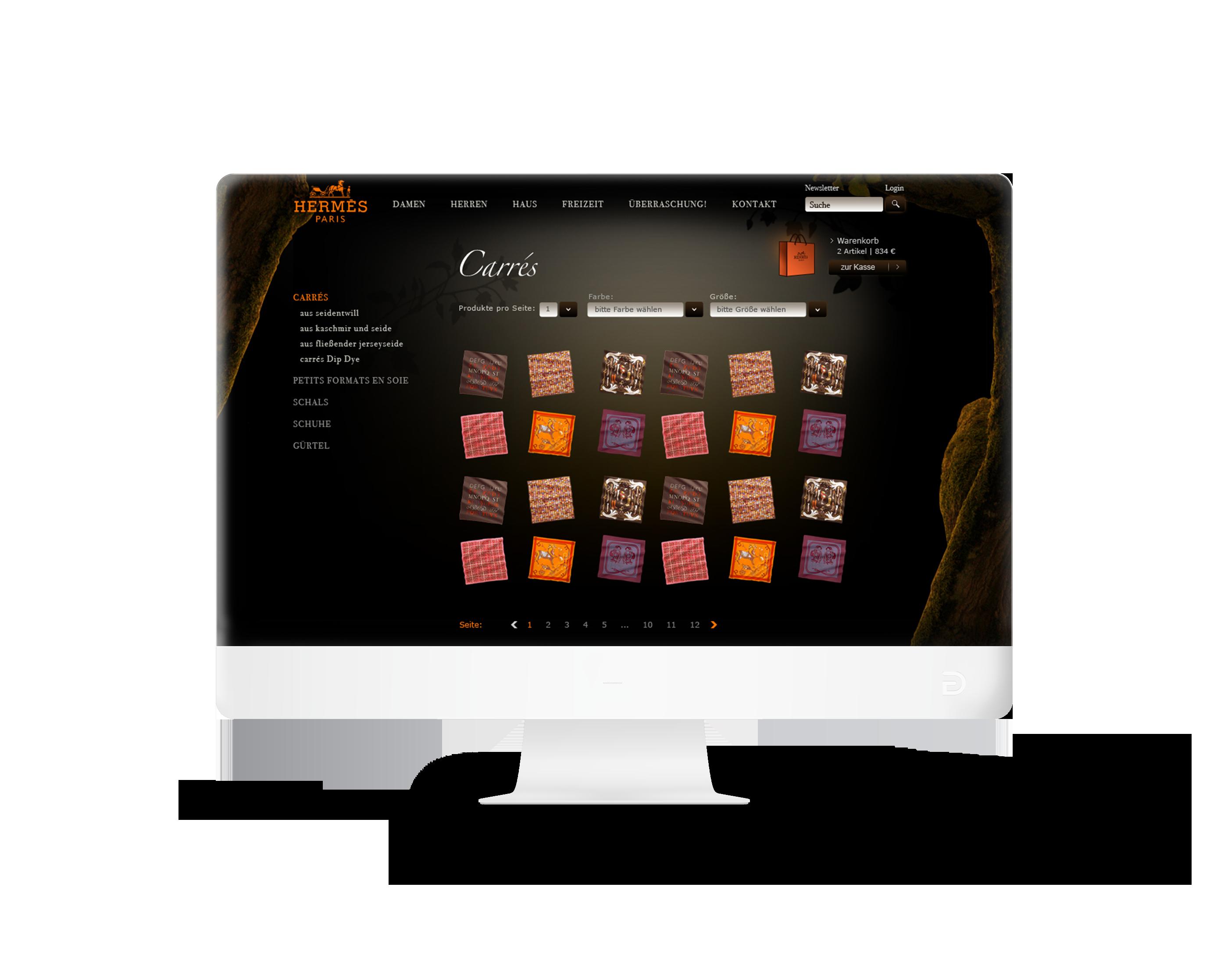 Hermès Onlineshop & Videointro